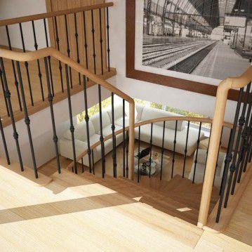 Elegantiški laiptai ant metalinės konstrukcijos MT 21