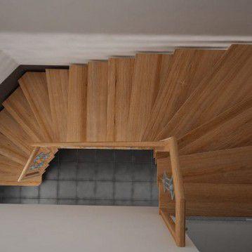 Laiptai ant siauros metalinės laiptasijos MT 25