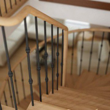 Elegantiški laiptai ant metalinės konstrukcijos MT 30