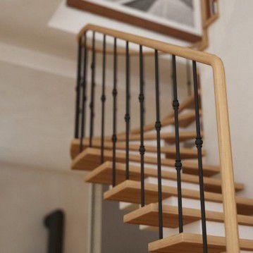 Elegantiški laiptai ant metalinės konstrukcijos MT 22