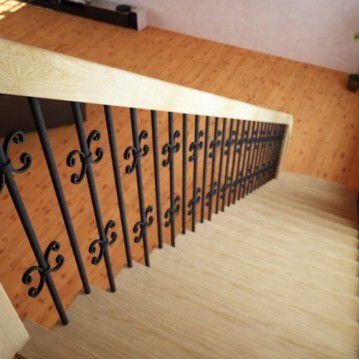 Tiesūs išlengvinti mediniai laiptai SA 02