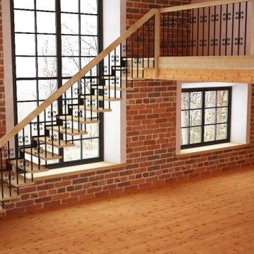 Tiesūs išlengvinti mediniai laiptai SA 12