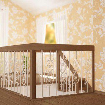 Sąvaržiniai laiptai su dekoruotais šviesiais turėklais SA 04
