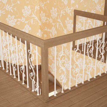 Sąvaržiniai laiptai su dekoruotais šviesiais turėklais SA 31